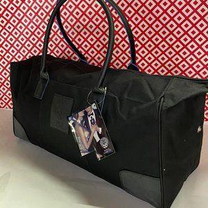 VINCE CAMUTO MENS BLACK ON BLACK BAG